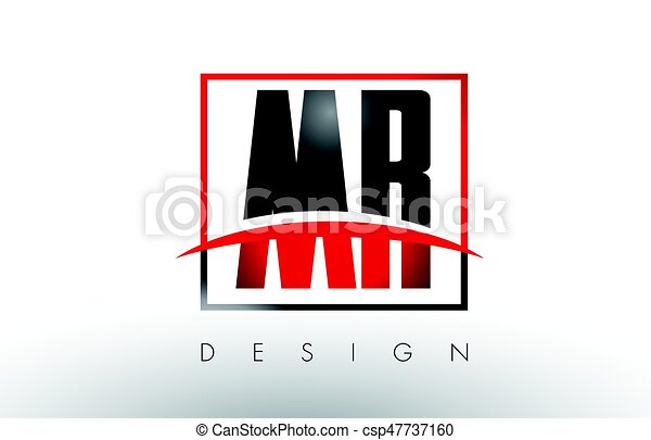 mr m r logo letters with red and black colors and swoosh clip rh canstockphoto com red and black logo red and black logo quiz