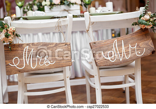 Mr. & Mrs. Sign  - csp27022533