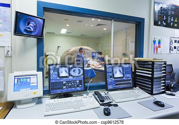 MRI machine and screens - csp9612578