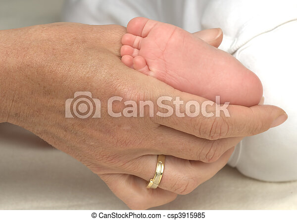 Mrs. Hand and Foot Baby - csp3915985