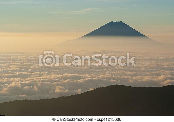 Mt. Fuji and a sea of clouds - csp41215686