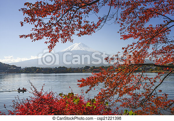 Mt. Fuji in Fall - csp21221398