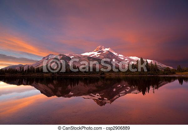 Mt. Jefferson sunrise - csp2906889