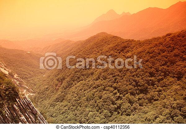 mt, lin, china, shao, sundown - csp40112356