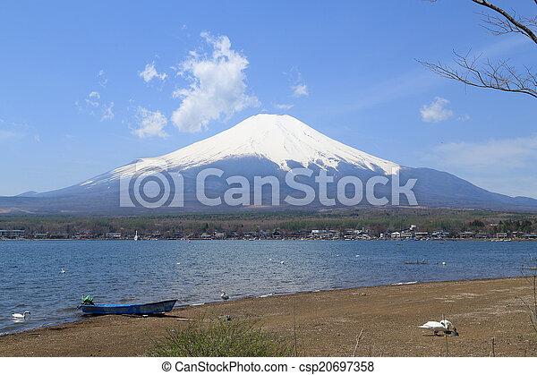 Mt.Fuji at Lake Yamanaka, Japan - csp20697358