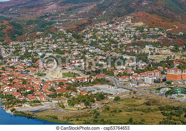 Vista de mtskheta, Georgia - csp53764653