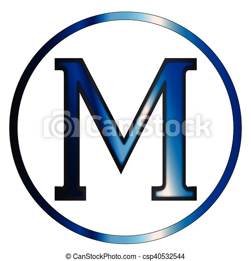 Mu Greek Letter Mu A Letter From The Greek Alphabet Isolated Over A