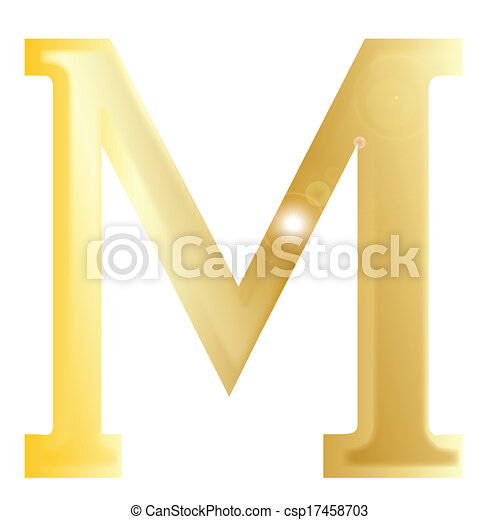 Mu A Letter From The Greek Alphabet Isolated Over A White Background