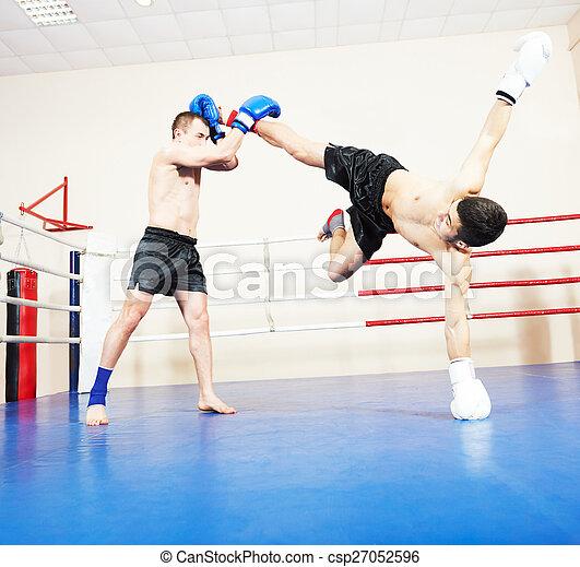 muai thai fighting technique - csp27052596