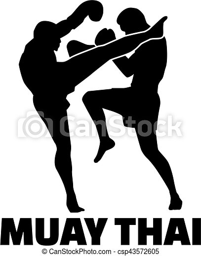 Muay Thai Fighter With Word