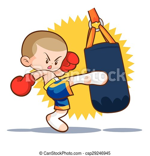 Patada de boxeo Muaythai - csp29246945