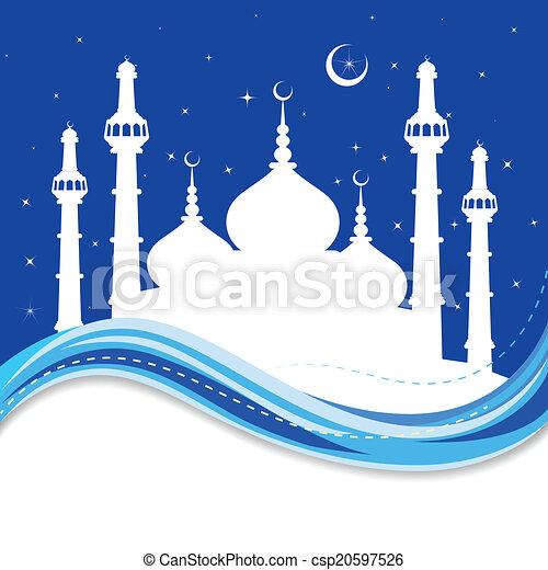 Eid Mubarak (bendición para eid) fondo - csp20597526