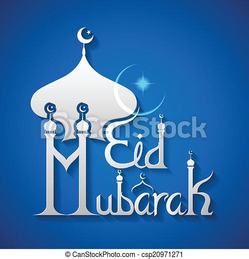 Eid Mubarak (bendición para eid) fondo - csp20971271