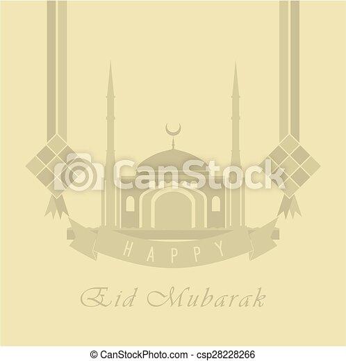 La tarjeta de Eid Mubarak - csp28228266
