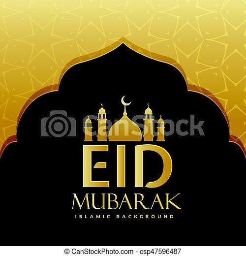 Eid Mubarak felicitando diseño de fondo - csp47596487