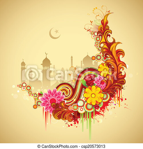 Trasfondo Eid Mubarak - csp20573013