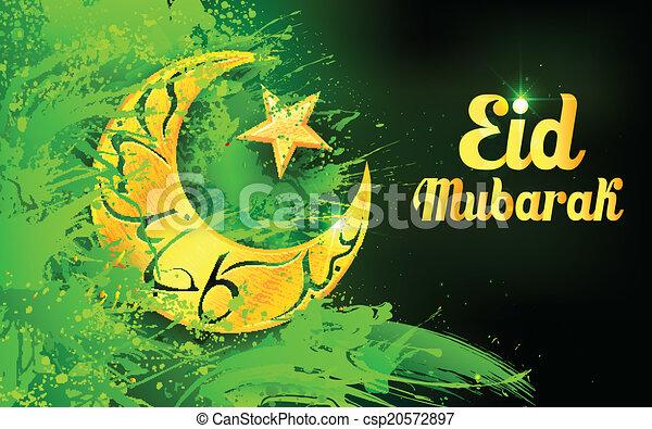 Trasfondo Eid Mubarak - csp20572897