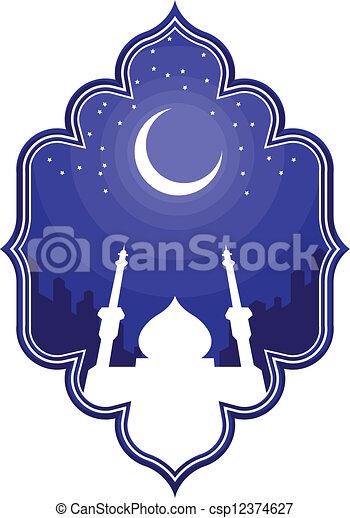 Ramadan y eid mubarak saludos 2 - csp12374627