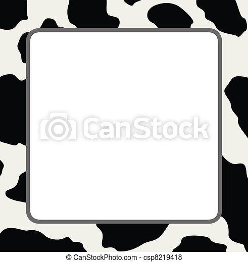 mucca, astratto, struttura, vettore, pelle, cornice - csp8219418