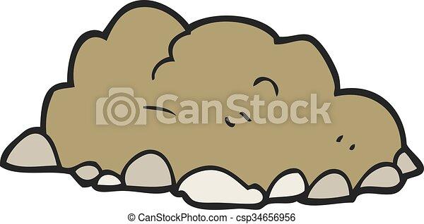 mucchio, cartone animato, sporcizia - csp34656956