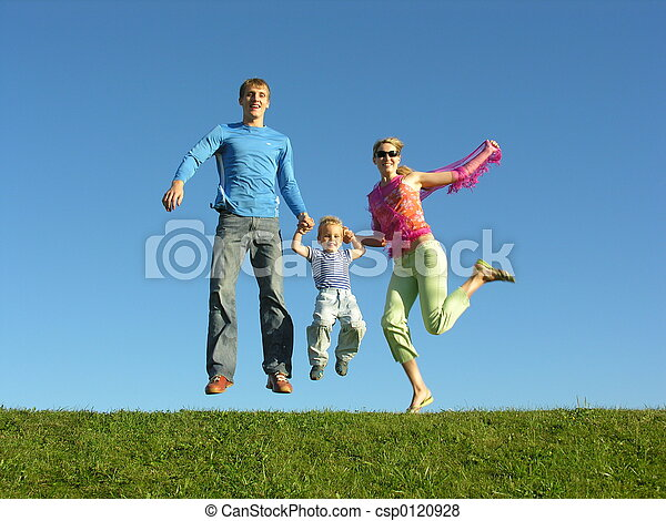 mucha, rodzina, szczęśliwy - csp0120928