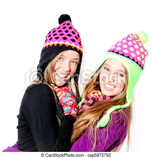 Chicas adolescentes felices - csp5973792