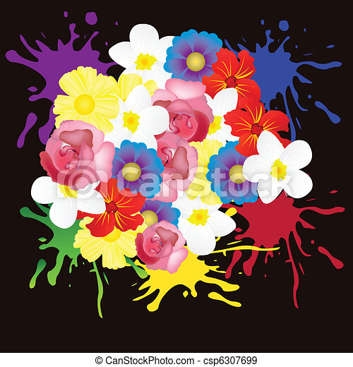 Mucho Flores Fondo Negro Color Flor Plano De Fondo Miscelaneo