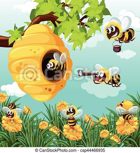 Muchos abejas jard n vuelo muchos vuelo jard n for Ahuyentar abejas jardin
