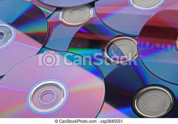 muchos, cd\'s, aislado - csp3845551