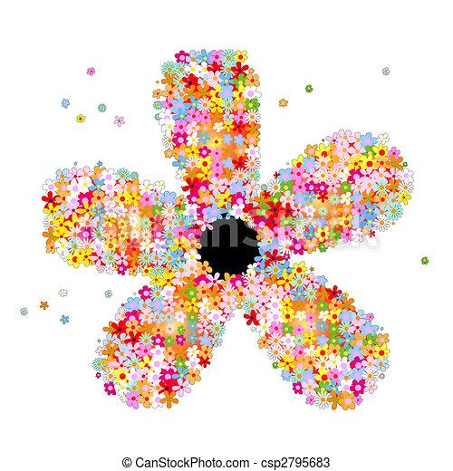Muchas flores - csp2795683