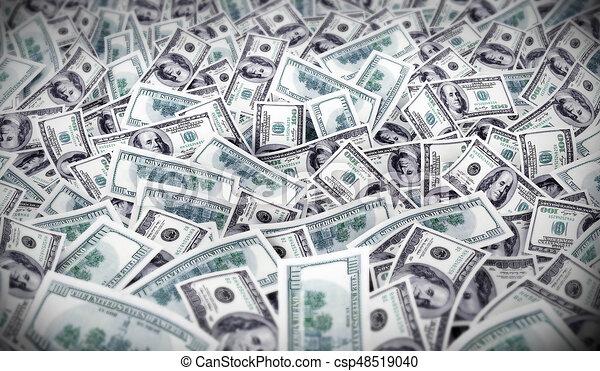 Muchos Mucho Dinero Dólares Dinero Ilustración Mucho Muchos 3d