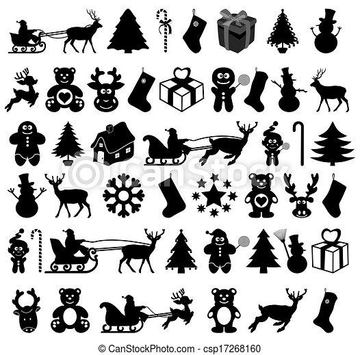 Muchos diseñan Navidad en la sombra - csp17268160