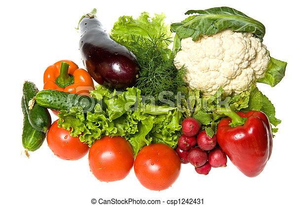 Muchas verduras - csp1242431