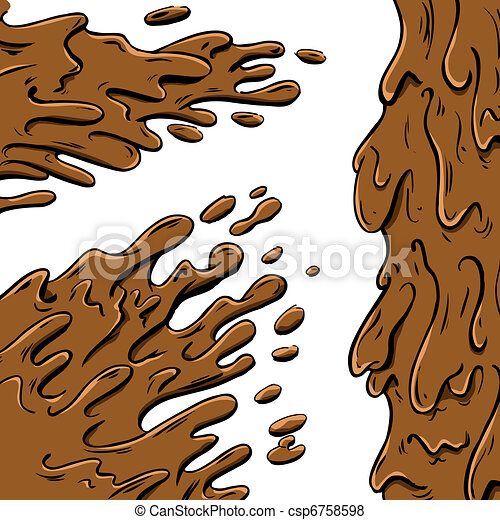 Mud splashes cartoon - csp6758598