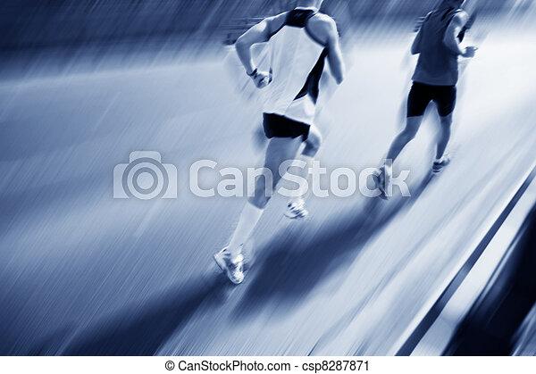 mudanza, dos, corredores, fast. - csp8287871