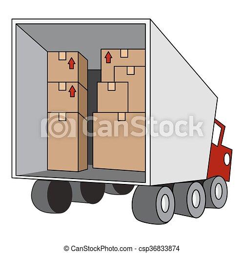 Un camión de reubicación - csp36833874