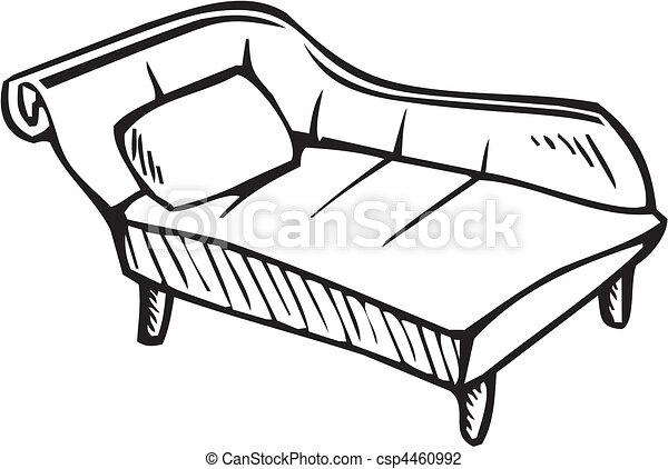 ilustración vectorial de muebles csp4460992 - buscar clip art ... - Dibujo De Muebles