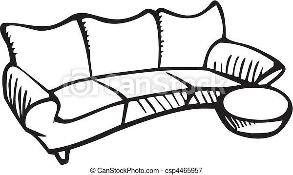ilustración vectorial de muebles csp4465957 - buscar clip art ... - Dibujo De Muebles