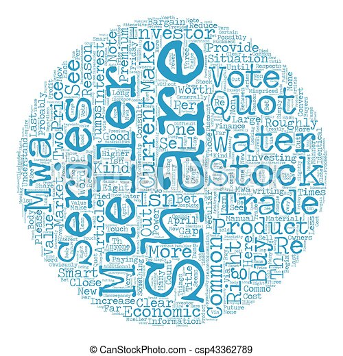 Mueller Water Products quot a quot And quot b quot Shares Are Mispriced  text background wordcloud concept