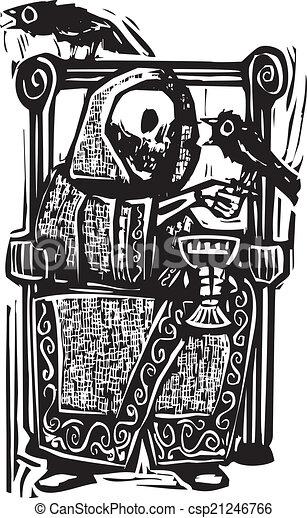 Muerte y cuervos - csp21246766