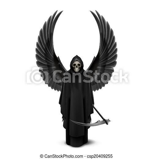 Ángel de la muerte con dos alas - csp20409255