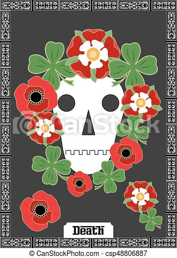 La tarjeta de la muerte - csp48806887