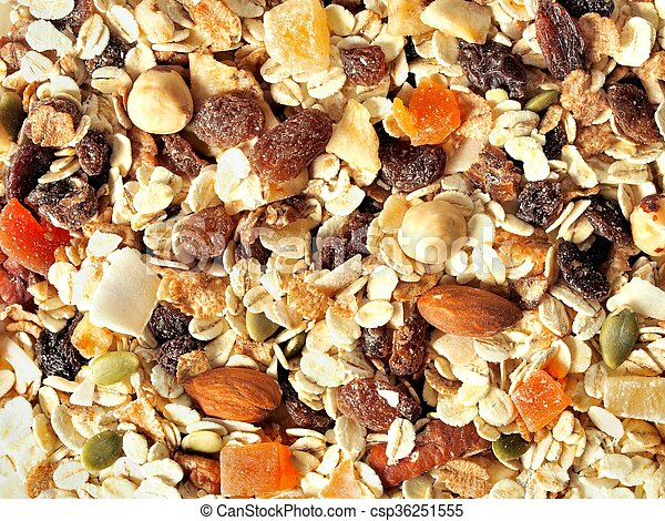 Muesli with fruits and nuts - csp36251555