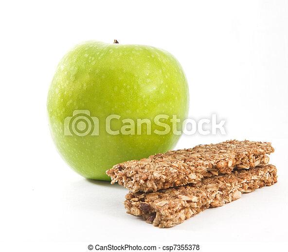 Muesli with green apple - csp7355378