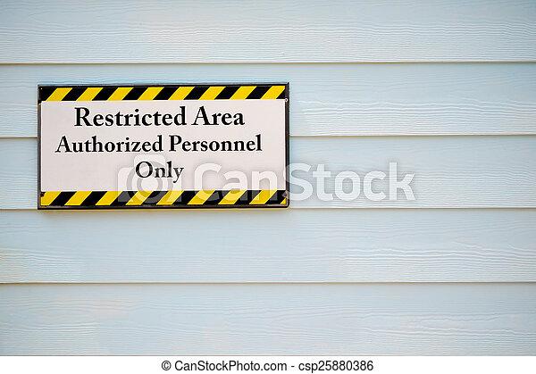Señal de área restringida - csp25880386