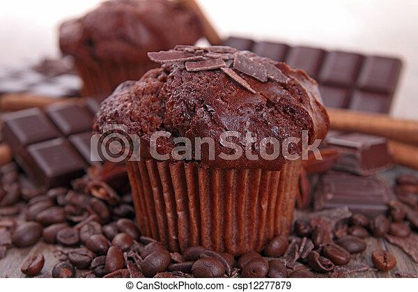 muffin, chocolat - csp12277879