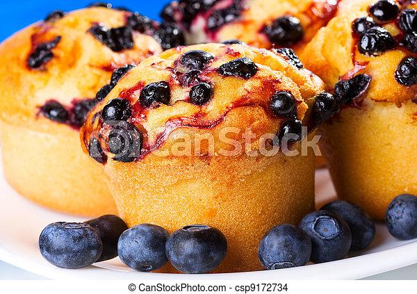 muffin, myrtille - csp9172734