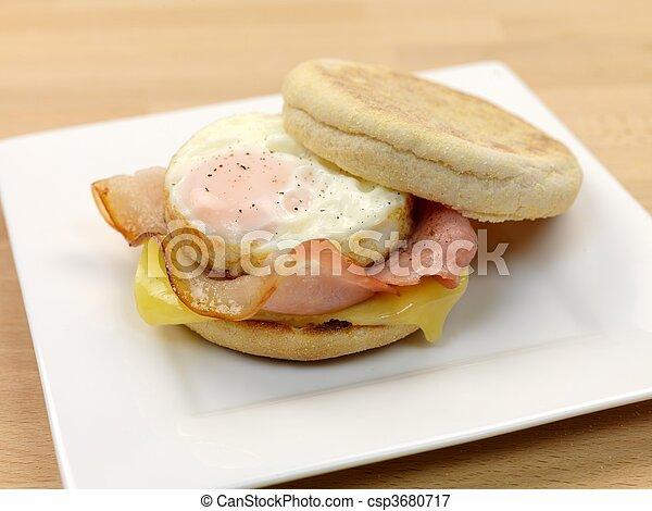 muffin, petit déjeuner, anglaise - csp3680717