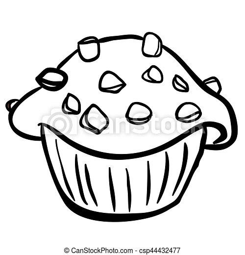 Muffin Puce Noir Chocolat Blanc