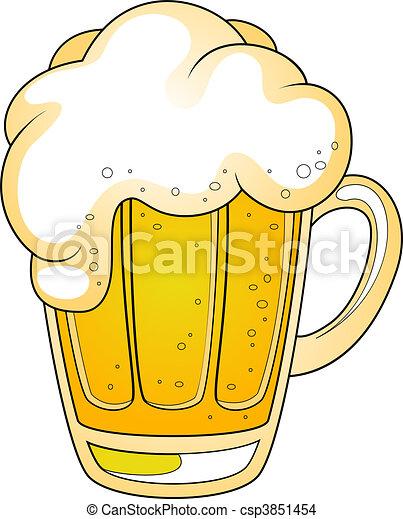 Mug of beer - csp3851454